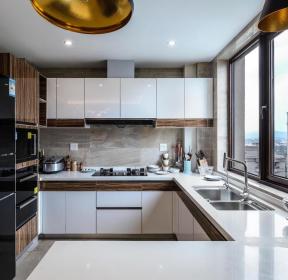 138平現代風格廚房整體裝修設計實景圖-每日推薦