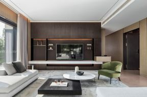 客廳電視墻紙背景墻 客廳電視墻造型圖