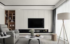 客廳電視墻裝飾  現代簡約客廳電視墻裝修效果圖