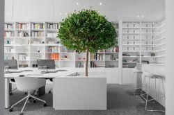 極簡風格辦公室墻柜裝修設計效果圖片