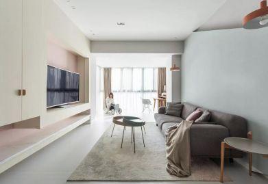 太原中车国际108平米现代简约,浪漫马卡龙的色彩,让空间充满活泼的爱意