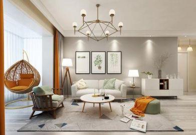 渭南110平米三居室现代简约风格ballbet贝博网站需要多少钱?渭南110平米样板间ballbet贝博网站