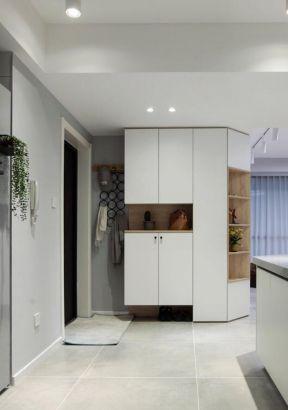 玄關柜設計  白色玄關柜