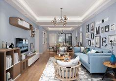 龙景名都北欧风格110平米三居室装修案例