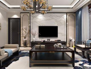 百色碧桂园新中式风格160平米装修效果图案例