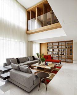 簡約復式樓客廳裝修設計效果圖大全