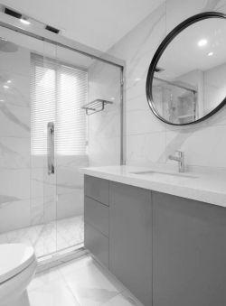 80平方現代風格新房衛生間洗手臺設計圖