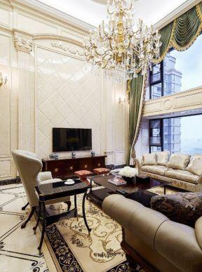 歐式復式客廳裝修效果圖 頂層復式樓裝修