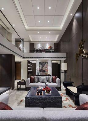 中式客廳裝潢設計效果圖 復式樓客廳裝飾效果圖