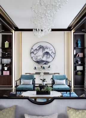 中式小別墅裝修 小別墅客廳設計