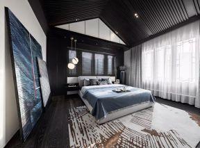 中式臥室裝修設計 斜頂臥室裝修效果圖