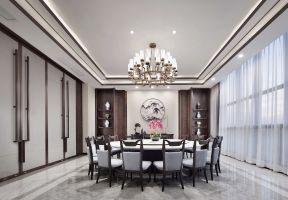 中式別墅餐廳效果圖 中式別墅餐廳裝修效果圖 別墅餐廳裝修效果圖