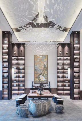中式茶室設計圖片 中式茶室裝修 別墅茶室裝修設計效果圖