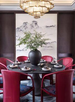 別墅餐廳設計 別墅餐廳裝潢 中式別墅餐廳設計圖片