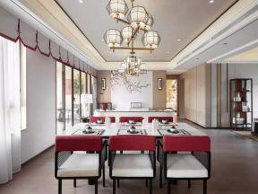 中式別墅餐廳效果圖 中式餐廳裝修效果圖片