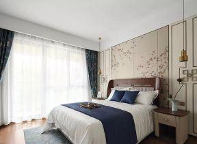 中式臥室裝修 中式臥室背景墻裝修效果圖