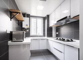 u型廚房裝修效果圖 u型廚房設計 u型廚房 白色櫥柜圖片