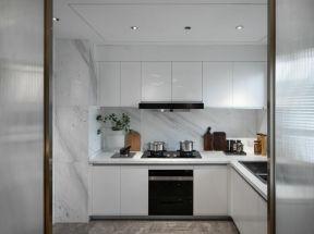 廚房壁柜裝修效果圖片 廚房轉角櫥柜 白色廚房裝修