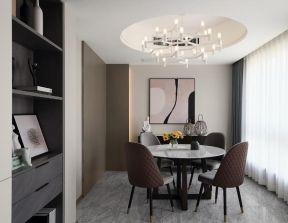 餐桌椅圖片 餐廳圓形吊頂效果圖