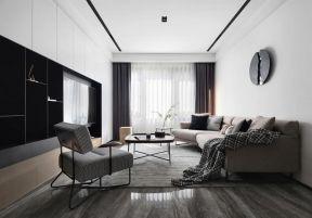 客廳窗簾圖片 樣板房客廳裝修效果圖