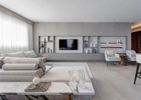 現代客廳裝飾效果圖 電視墻造型裝修