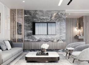 客廳電視墻設計裝修圖片 大理石電視墻裝修效果圖大全