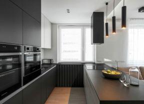 黑白廚房裝修效果圖 整體廚房裝修