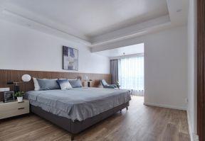 現代臥室背景墻設計 臥室木地板圖片