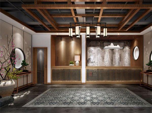 中式茶楼前厅设计