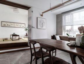 新中式餐廳裝修效果圖大全 實木餐桌椅子圖片 實木餐桌圖片大全