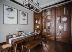 新中式茶室效果圖 別墅茶室裝修設計效果圖