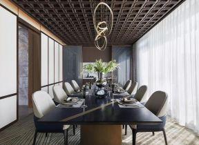 新中式餐廳圖 新中式餐廳裝飾 新中式餐廳裝修效果圖大全
