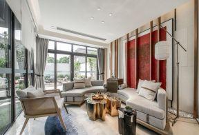 新中式別墅客廳效果圖 新中式客廳沙發圖片
