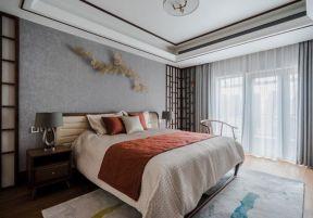 新中式臥室裝修效果圖 新中式臥室裝修風格 新中式臥室背景墻效果圖