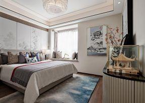 新中式臥室裝修效果圖 新中式臥室裝修風格 新中式臥室背景墻效果圖 新中式臥室裝修