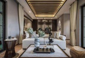 休閑客廳裝修效果圖  新中式客廳裝修實景圖