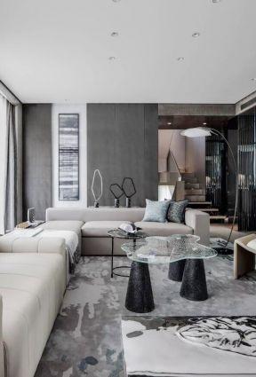 客廳玻璃茶幾圖片  新中式客廳裝修效果圖大全