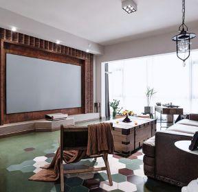 混搭風格三室兩廳客廳電視墻裝修效果圖-每日推薦