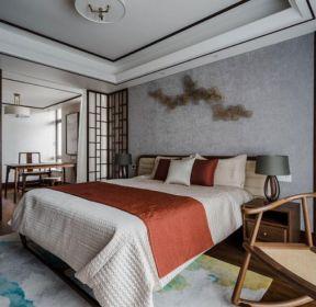 新中式風格家庭臥室書房隔斷裝修效果圖-每日推薦