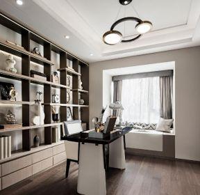 140平新中式風格家庭書房裝修效果圖-每日推薦