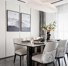 新中式風格家庭餐廳背景墻裝修效果圖-每日推薦