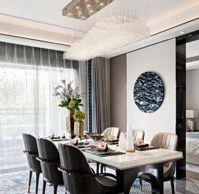 新中式風格樣板房餐廳裝修效果圖賞析-每日推薦