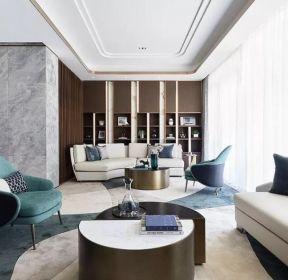 新中式風格樣板間客廳裝修效果圖大全-每日推薦