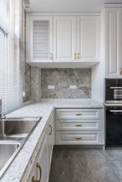 2019輕奢風格家庭廚房吊柜裝修圖片