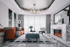 樣板房客廳裝修圖片 樣板房客廳圖片 客廳壁爐設計