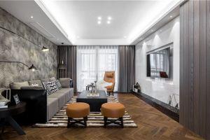 山水绿城简约风格125平米三居室装修案例