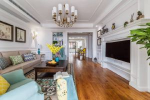 融创江南御园欧式风格138平米三居室装修案例