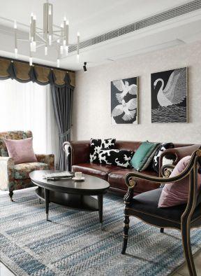 歐式風格客廳裝飾 橢圓形茶幾圖片