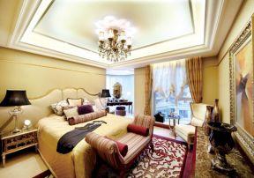 臥室燈具效果 臥室燈具圖片大全 歐式臥室吊頂裝修