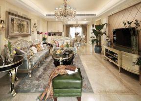 客廳電視柜設計圖 歐式新古典客廳裝修